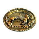 NFR Hesston Sixth Edition National Finals Rodeo 1980 American Belt Buckle