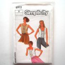 Misses Tops Size 12 Vintage Simplicity Sewing Pattern 6912