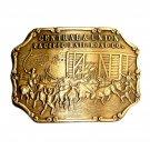 Central Union Pacific Rail Road Co Bergamot Brass Belt Buckle
