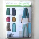 Misses Skirts Shorts Crop Pants Wide Leg 14 16 18 20 22 24 Simplicity Sewing Pattern 4237