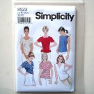 Misses Pullover Top 8 10 12 Simplicity Sewing Pattern 8523