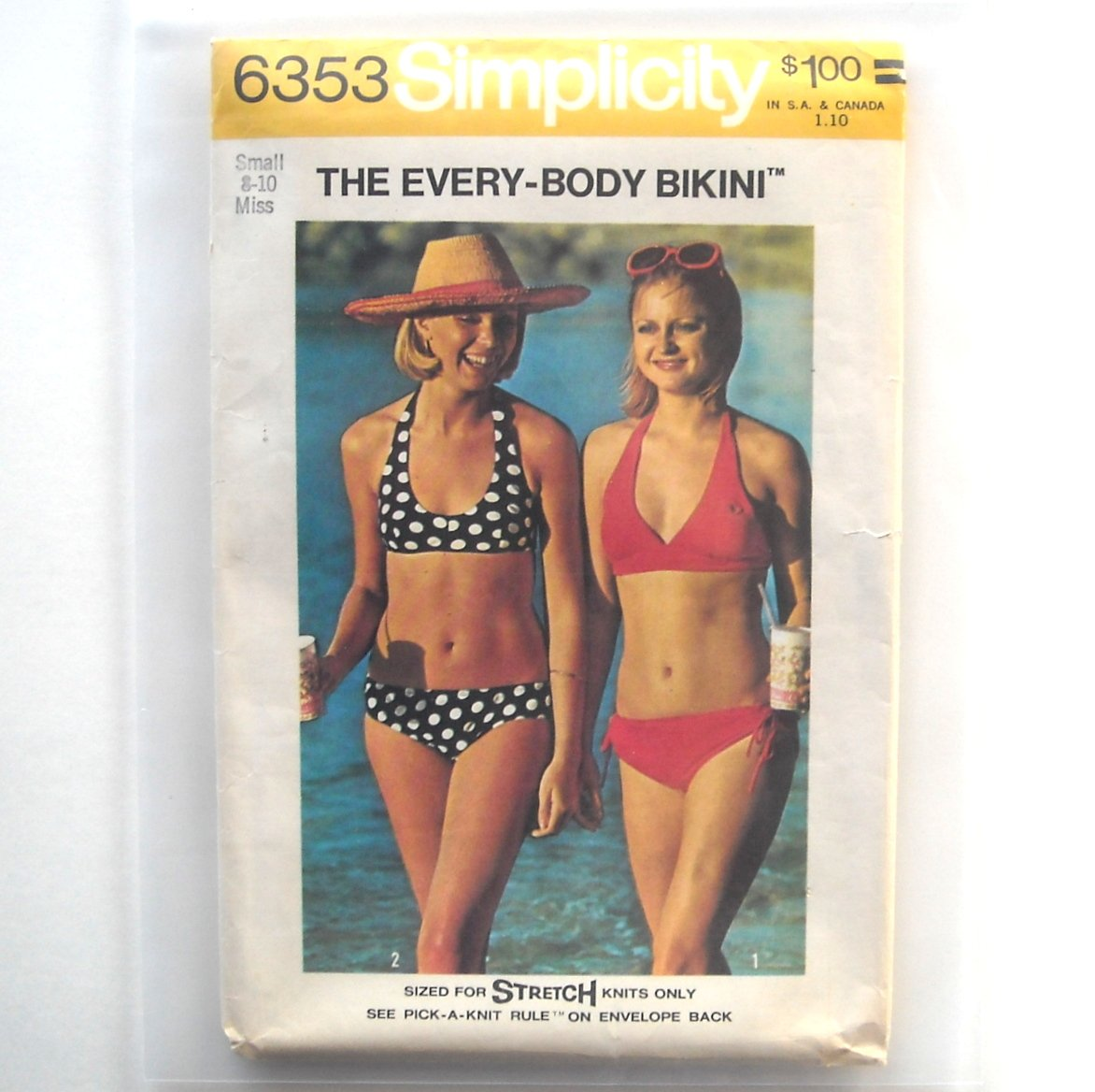 Misses Every Body Bikini Vintage Simplicity Sewing Pattern 6353