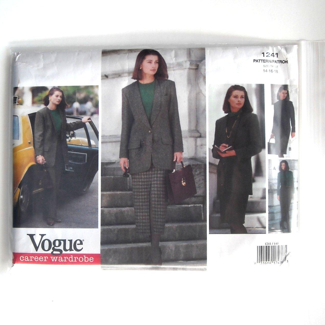 Career Wardrobe Vogue Sewing Pattern 1241