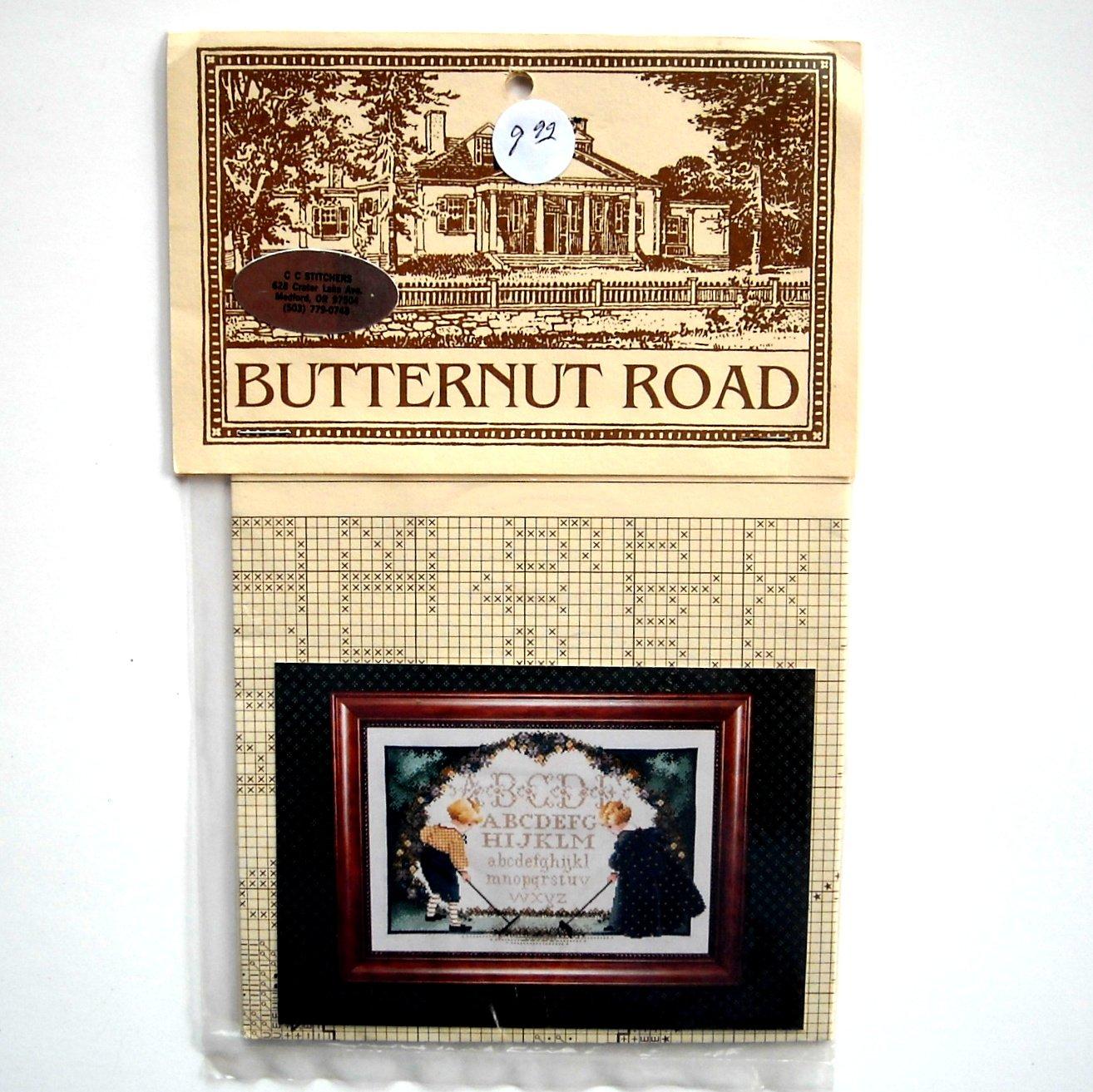 Butternut Road Childrens Garden Counted Cross Stitch Pattern