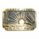 Kansas State Heritage Mint Solid Brass Vintage Belt Buckle