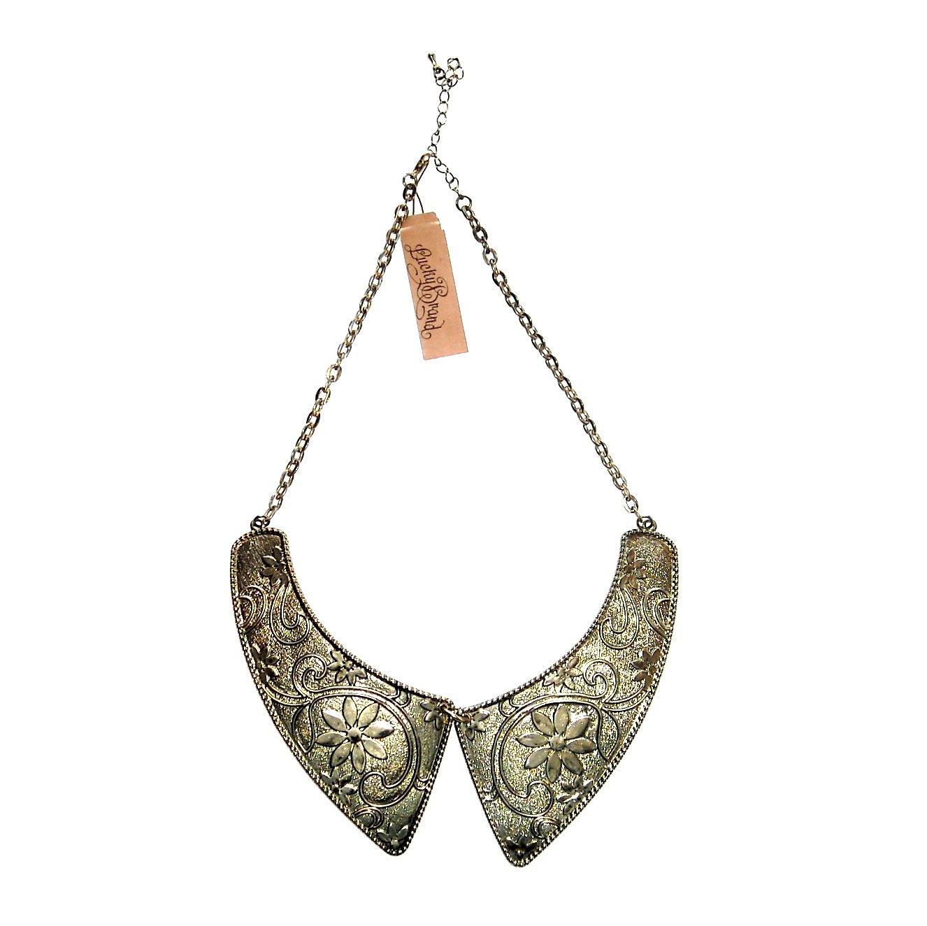 Lucky Brand Brass Gold Color Collar Necklace