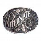 United States Of America Seal ADM Award Design Vintage Solid Brass Belt Buckle