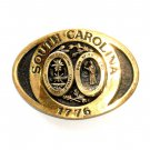 South Carolina Seal Heritage Mint Solid Brass Vintage Belt Buckle