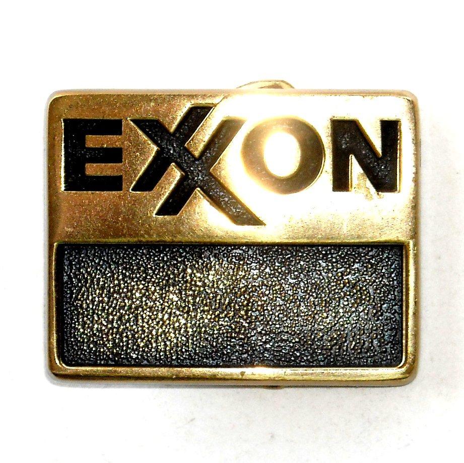 Exxon Logo BTS Solid Brass Vintage Belt Buckle