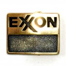 Exxon Logo BTS Solid Brass Vintage Belt Buckle