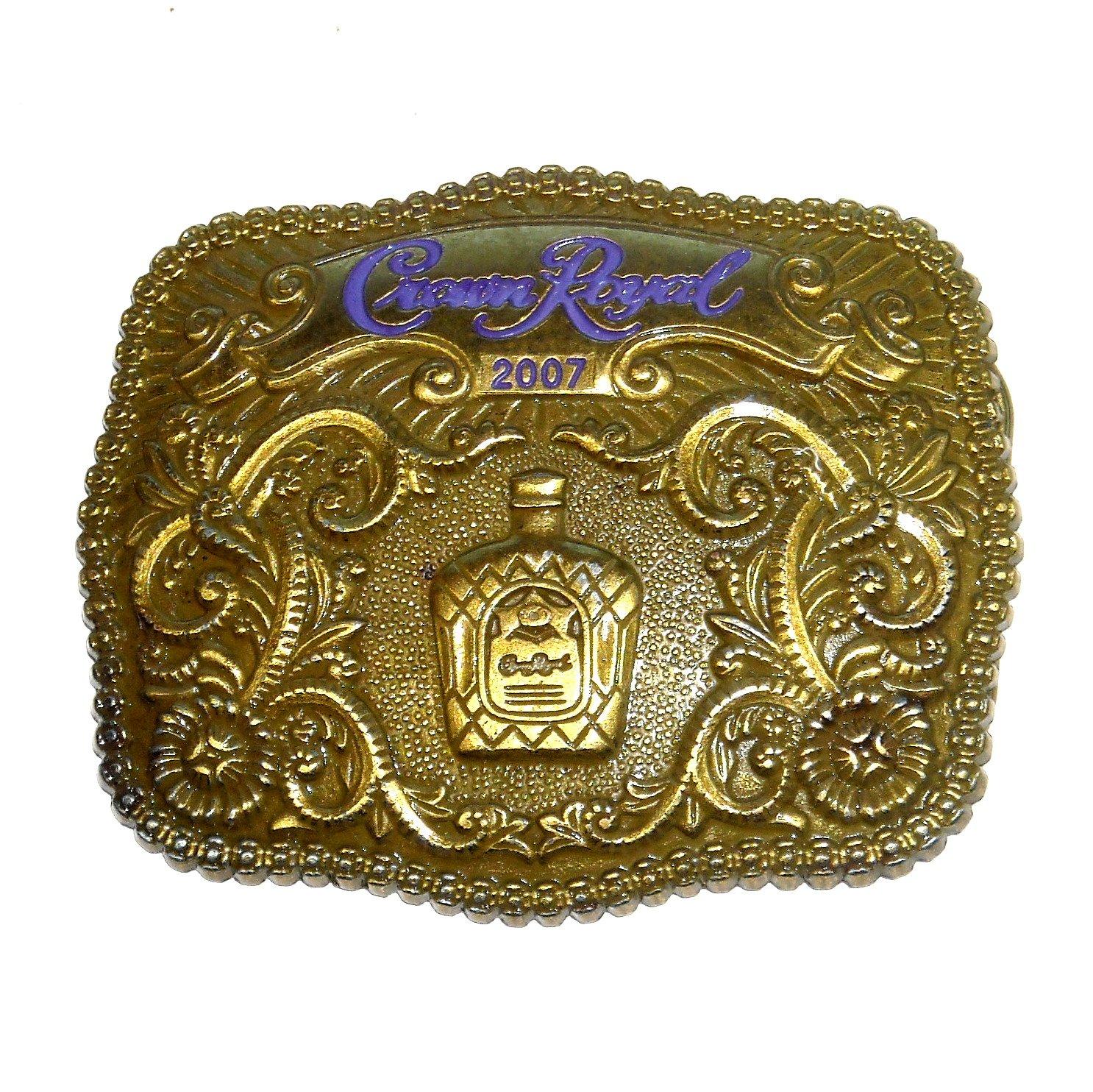 2007 Crown Royal Brass Color Belt Buckle