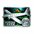 Boeing 247 D 3D Vintage Siskiyou Color Pewter Belt Buckle