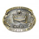 Wisconsin Kessler American Brass Color 1993 Belt Buckle