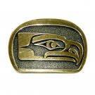Seahawks Kwakiutl Bird Solid Brass Belt Buckle