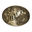 Idaho State Seal Award Design Solid Brass Belt Buckle