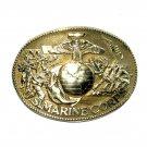 US Marine Corps ADM Vintage Solid Brass Belt Buckle