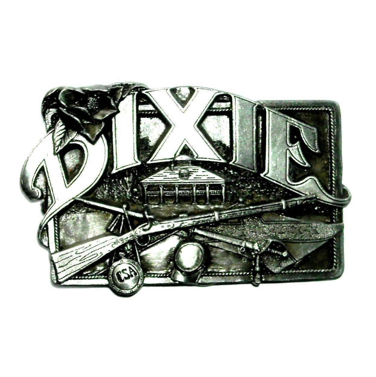Dixie Vintage Bergamot Solid Pewter Belt Buckle