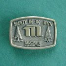 Vintage Masonite Corporation 1979 Solid Brass Belt Buckle