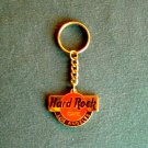 Hard Rock Cafe Los Angeles Gold Tone Keyring Chain
