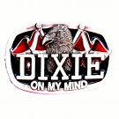 Dixie On My Mind Color Vintage Made In USA CJ Pewter Belt Buckle