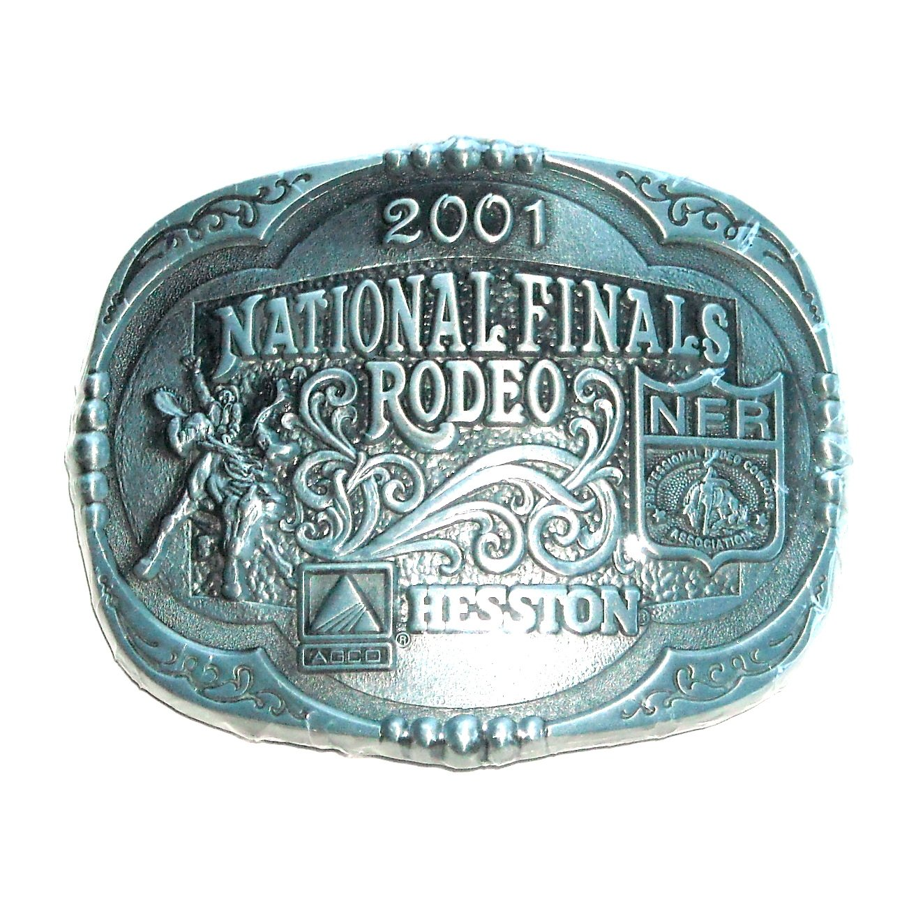 AGCO Professional Rodeo 2001 Cowboys Montana Silversmiths Belt Buckle