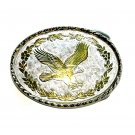 Bald Eagle Silver Gold Color Vintage Belt Buckle