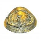 Utah Vintage Indiana Metal Craft 1977 Belt Buckle