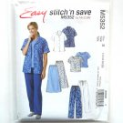 Misses Shirt Top Pull On Skirt Pants McCalls Sewing Pattern M5352
