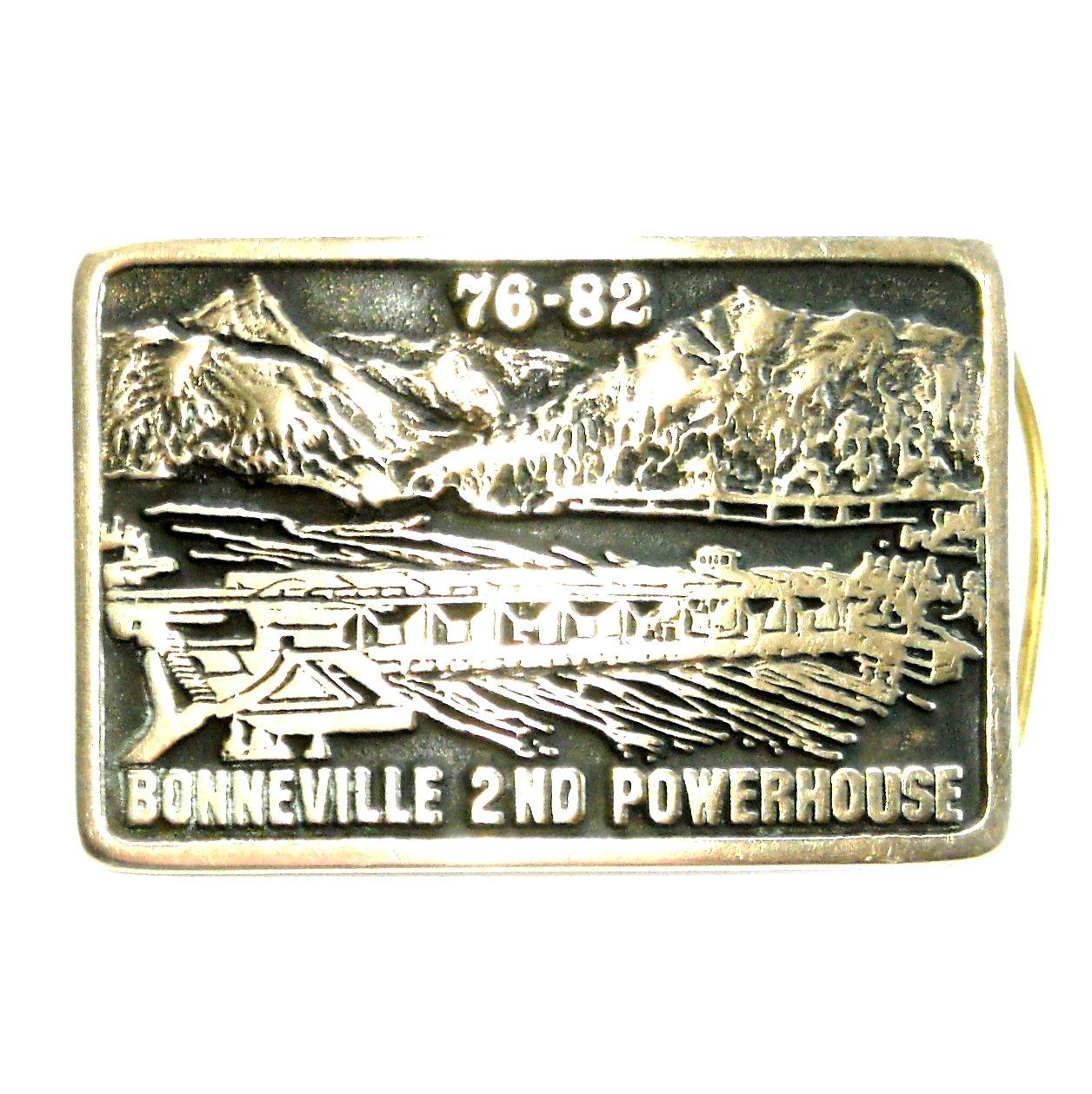 Bonneville Dam Oregon Anacortes Hand Made USA Solid Brass Belt Buckle