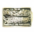 Bonneville Dam Oregon Anacortes Hand Made USA Solid Brass Belt Buckle