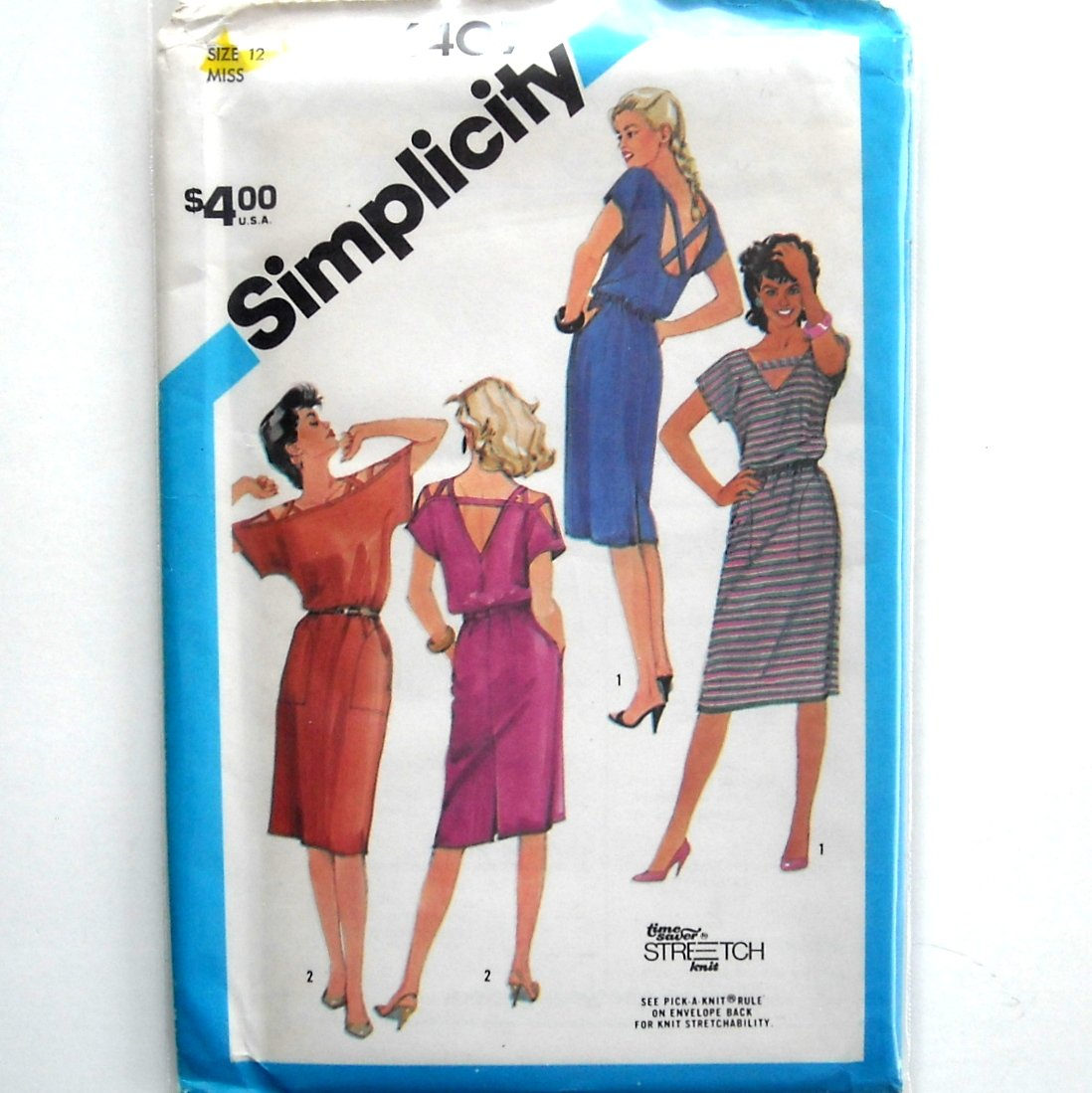 Misses Pullover Dress Vintage Simplicity Sewing Pattern 6407