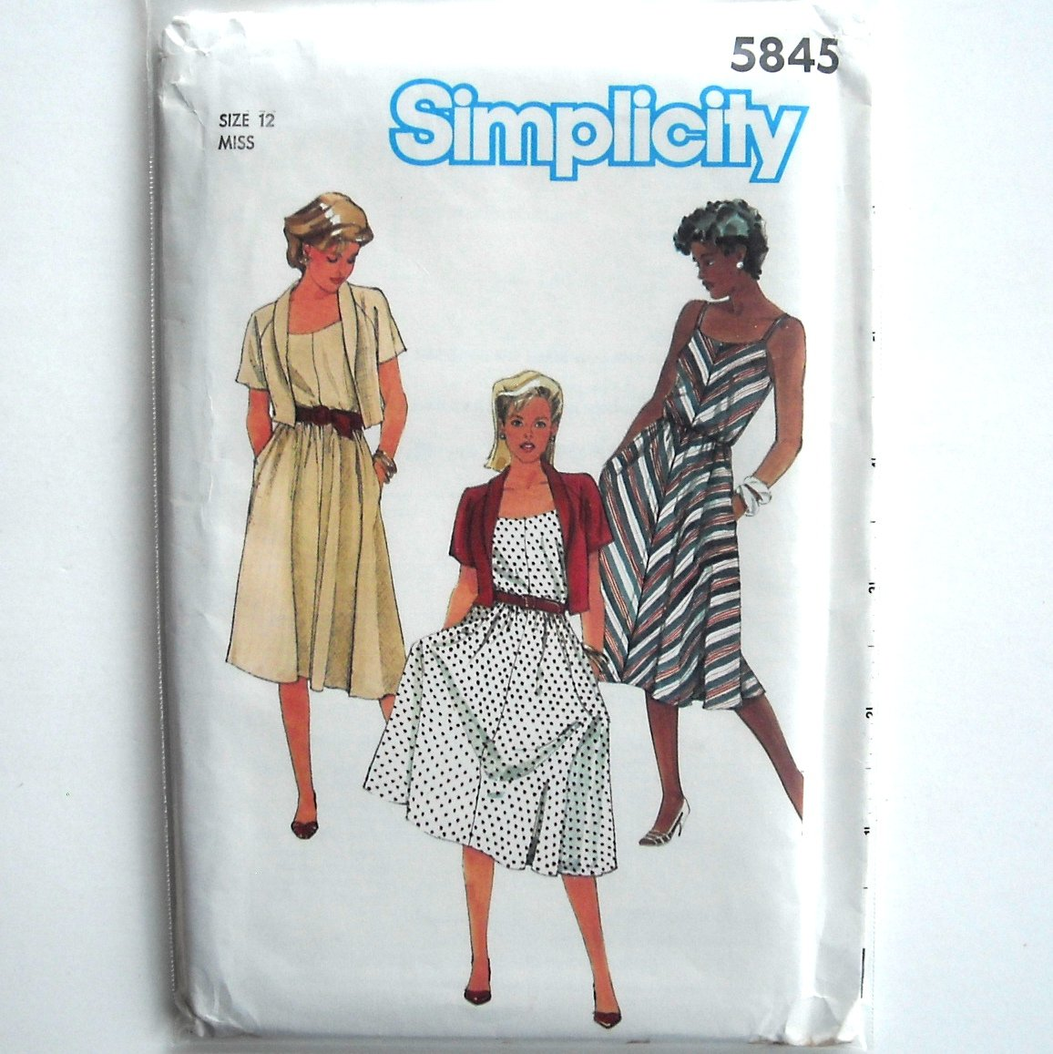 Misses Sun Dress Jacket Vintage Simplicity Sewing Pattern 5845