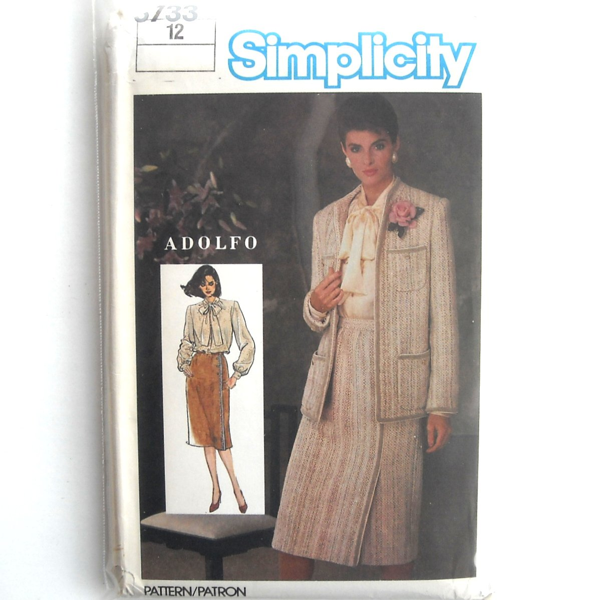 Womens Skirt Blouse Jacket Vintage Simplicity Sewing Pattern 6733