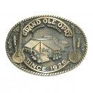 Vintage Grand Ole Opry Nashville ADM Solid Brass US Belt Buckle