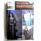 Misses Womens Dress Costumes 14 - 20 Wrights Simplicity Sewing Pattern 9891