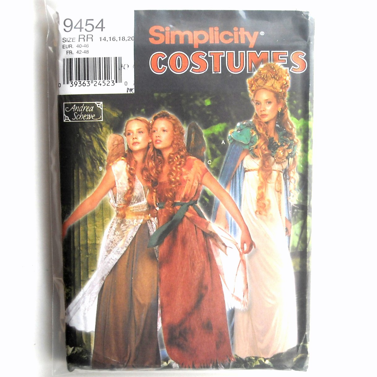 Misses Fairy Costumes Andrea Schewe Simplicity Sewing Pattern 9454