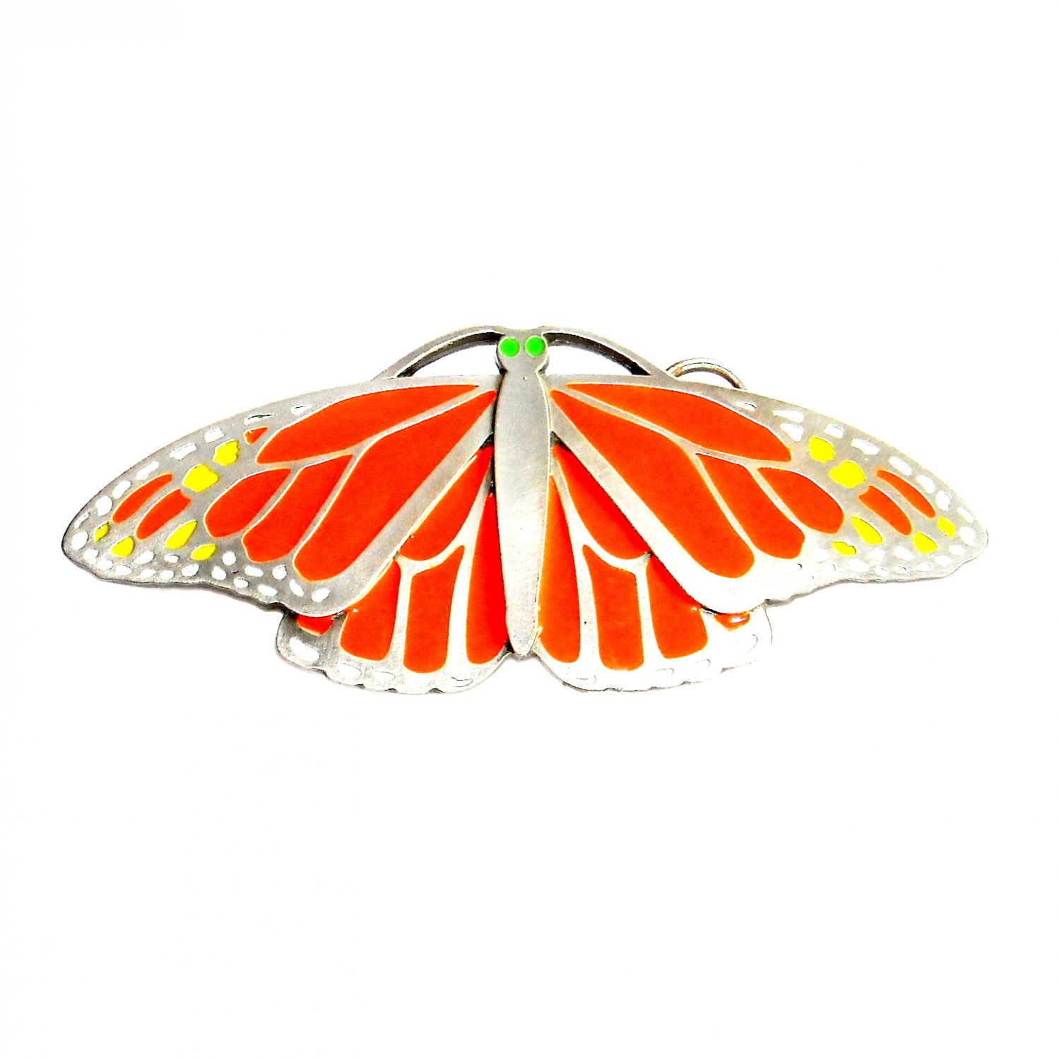 Large Monarch Butterfly Color US American Belt Buckle