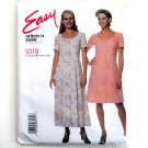 Easy Dress in two lengths Size 10 - 16 McCalls Sewing Pattern 9318