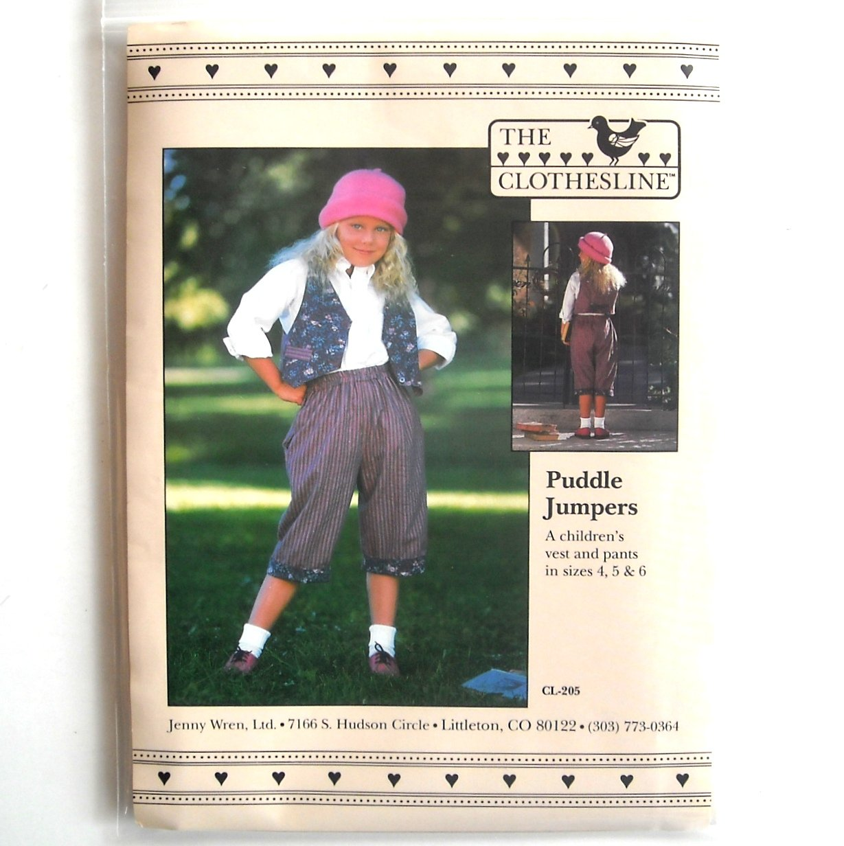 Girls Puddle Jumpers The Clothesline Sewing Pattern