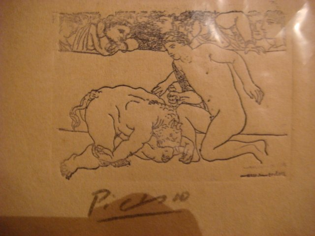 Pablo Picasso Etching Signed in Pencil ,original ,Minotauro vencido