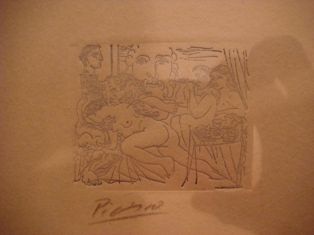 Pablo Picasso Etching Signed in Pencil ,original ,mujer y minotauro