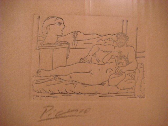 Pablo Picasso Etching Signed in Pencil ,original ,escultor y escultora