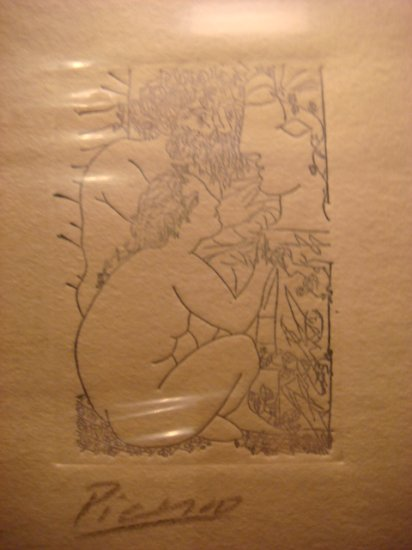 Pablo Picasso Etching Signed in Pencil ,original ,Escultor y modelo