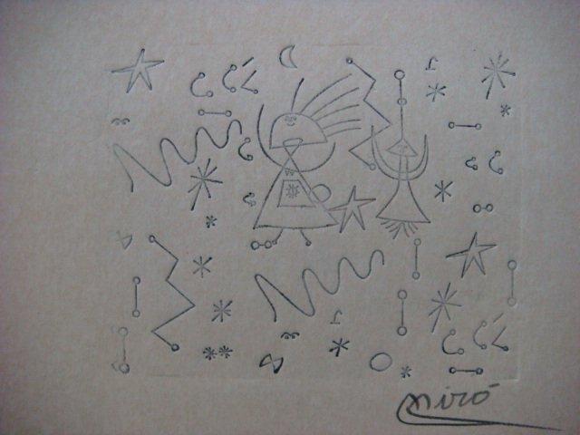 Joan Miro , Certified wax stamp # 153 year 1941 CONSTELACION Y PAJARO