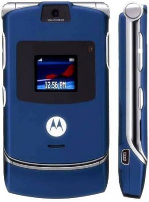 brand new unlocked navy motorola razr v3. Black Bedroom Furniture Sets. Home Design Ideas
