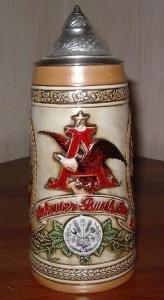 budweiser limited edition collector stein series