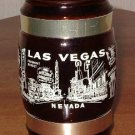 Las Vegas Nevada Downtown and Strip Glass stein Wooden handle