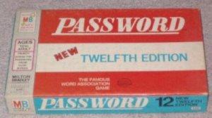 PASSWORD MILTON BRADLEY GAME 4260 from 1962
