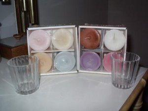 Valerie Parr Hill Votive Candles Assorted Scents Glass holders