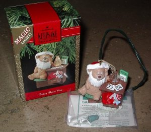 Hallmark Ornament Magic Light Beary Short Nap 1990